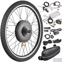 "26""48VElectric Bicycle Motor Conversion Kit Front Rear Wheel E Bike Hub 1000W US"