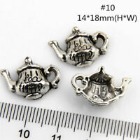 Lot 20-150Pcs Teapot #11 Antique Silver Charms Wine Pot Flask For DIY Making