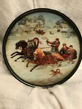 """Bradex Russian Collector Plates """"Village Life in Russia"""" 5 of 8-plate series"""