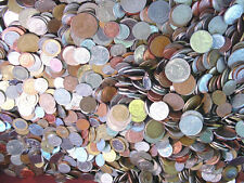 UNSEARCHED 25 pound bag of BULK WORLD COINS 2250-2750 coins Free U.S. Shipping !