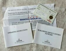 Omega Wristwatch Warranty Card and Booklets