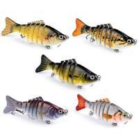 7Segment Multi Jointed Fishing Lures Fishing Bait Crankbait Swimbait Hooks N8Y1