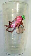 TERVIS 16 oz TUMBLER BEACH CHAIR HAT BAG PINK GREEN DOUBLE WALL DRINKWARE USA