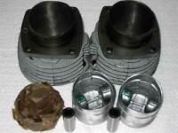 2 Ural 650 Zylinder m. Kolben Ringen komplett cylinder