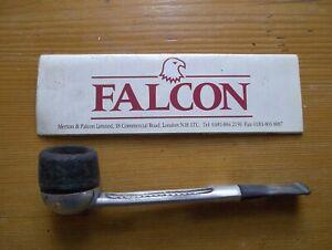 Falcon briar pipe, metal stem, original leaflet. Well used.