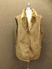 Sporto NEW Brown Faux Suede Fur Shearling Outdoor Vest Womens 2X Rancher Western