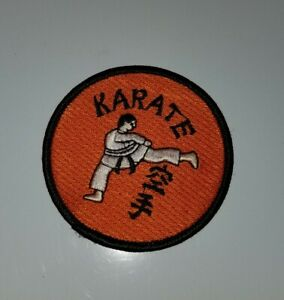 New Orange & Black Karate Martial Arts Patch for Uniform Jacket Collection