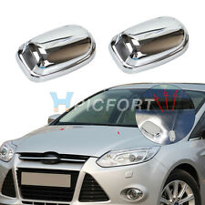 Chrome  cover spray nozzle decoration sticker protector for  Ford Focus MK3