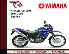 Yamaha XT660R XT660X XT660 2004-2008 Service Repair Workshop Manual
