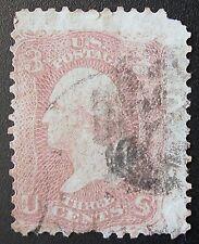 US Postage Stamp #64 – 1861 3c Washington, Pink  #PRICE REDUCED