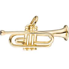Anhänger Trompete 333 Gold Gelbgold Musik Goldanhänger