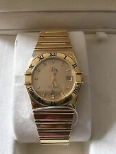 Mint Authentic Men's Omega Constellation 18k Solid Yellow Gold Watch