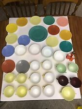 Vintage Hazel Atlas platonite Pastel 36 Piece Lot. Cups Saucers And Dishes