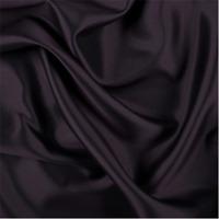 Aubergine Silk/Wool Gab, Fabric By The Yard
