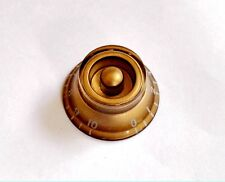 1 GOLD Volume Tone Control Bell Hat Knob for USA Gibson Les Paul Guitar CTS Pot