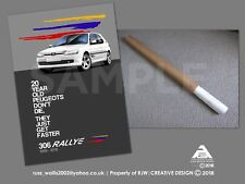 Peugeot 306 Rallye 20th Anniversary Limited Edition A2 Poster Print