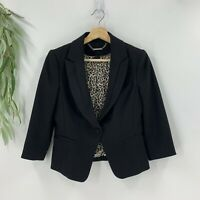 White House Black Market Womens Fitted Suit Jacket Blazer Size 4 S Stretch Woven