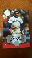 2004 JIM RICE Exchange /75   Auto  SP #245 UD Timeless Teams  Short Print  !