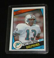 1984 Topps Football Dan Marino Rookie RC #123 Miami Dolphins Sharp Card