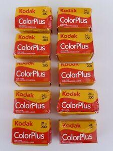 10 Stück Kodak ColorPlus ISO 200 Filme Farbfilm Kleinbildfilm 24 Aufnahmen