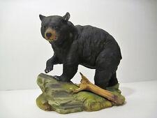"Vtg American Black Bear Porcelain 7"" Stunning Hunting Art Sculpture Perfect Gift"