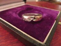 Schöner 925 Silber Ring Zirkonia Wie Diamant Bicolor Vergoldet Grazil Modern Top