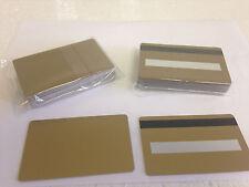 25 Gold CR80 PVC Cards - HiCo MagStripe 2 Track w/ Signature Panel - ID Printers