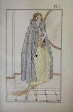 GRAVURE COULEUR DE LHUER 1921 MODE ART DECO