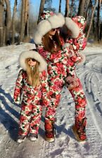 Winter Snow Suit Nylon Ski Damenoverall Anzug Overall Floral One Piece Waterproo