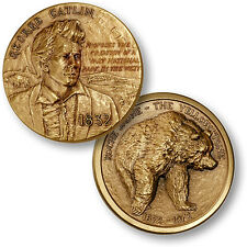 Yellowstone National Park / Catlin - Wyoming Bronze Challenge Coin
