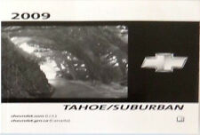 chevrolet chevy tahoe owners manual in parts accessories ebay rh ebay ca 2015 Chevrolet Suburban 2009 Chevrolet Suburban Interior
