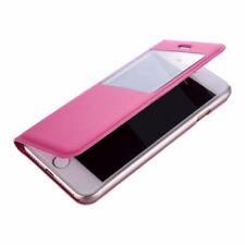 Fundas y carcasas transparente de color principal rosa de piel para teléfonos móviles y PDAs