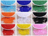5000 Opaque Glass Seed Beads 2mm (10/0) + Storage Box Colour Choice Jewelry Make