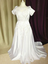 Robe de mariée vintage 80/90 satin MISS KELLY PARIS Taille FR44 U12 UK16 EUR42
