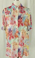 Zauberhafte TAIFUN  Sommer Bluse, Hemd Viscose mehrfarbig geblümt  Gr. 40 (42)