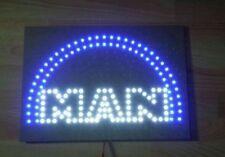 MAN Logo / Schild mit weißen und blauen LED / 24 Volt