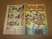 WALT DISNEY ALBO D'ORO 1° SERIE N°58 TOPOLINO E LA MACCHINA MAGICA 1947