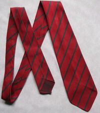 VINTAGE BOYS OLD SCHOOL TIE RETRO CLUB STRIPED COLLEGE RED GREEN 1970s 1980s