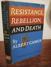 1st Edition RESISTANCE REBELLION DEATH Albert Camus NOBEL 3rd Printing FICTION