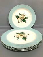 Lifetime China Turquoise Set of 4 Dinner Plates