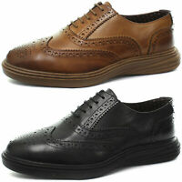 New London Brogues Geoffrey Mens Oxford Brogue Shoes ALL SIZES AND COLOURS