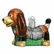 Old World Christmas Glass Blown Ornament Toy Coil Dog
