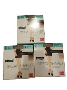 No Nonsense Great Shapes All Over Shaper - 3 PRS ~ Beige Mist ~ Sheer Toe ~ Sz A