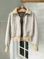 Womens Prada Light Grey Quilted Puffer Bomber Short Jacket Sz - 46 L