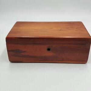 "Lane Miniature Cedar Chest Wooden Box  9"" X 5"" No Key"