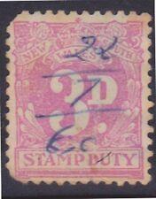 (K109-141) 1930 NSW 3d purple stamp duty (FC)used