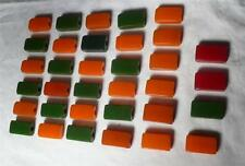 Bakelite blocks assorted colors catalin amber 236 gr.-0,52 p. TESTED (s10296)