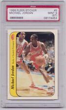 Michael Jordan Rookie Sticker PSA 9 (ST) 1986-87 Fleer 1986 #8 RC Chicago Bulls