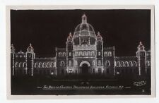The Parliament Buildings VICTORIA BC Canada 1920-30s Gowen Real Photo Postcard 2