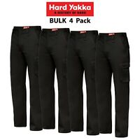 Mens Hard Yakka Cargo Pants 4 PACK Generation Y Cotton Drill Cotton Work Y02500